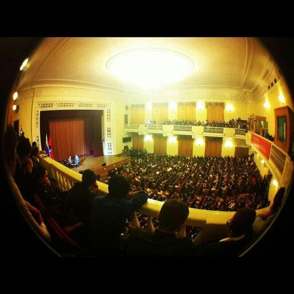 Встреча Владимира Познера со студентами Финансового университета