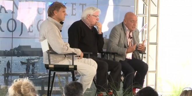 """Spacebridge 2013"" - Phil Donahue and Vladimir Pozner"