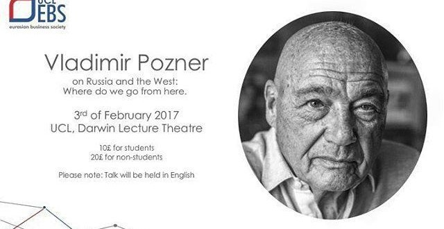 UCL EBS: Vladimir Pozner on Russia and the West