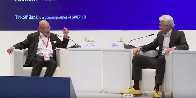 Олег Тиньков и Владимир Познер — беседа о технологическом предпринимательстве (видео)